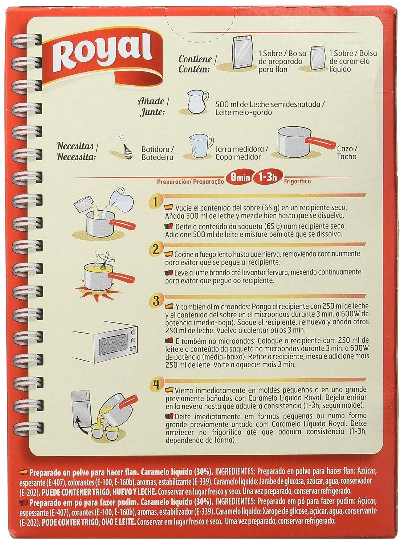 Royal Flan 4 Raciones - Paquete de 12 x 7.75 gr - Total: 93 gr: Amazon.es: Amazon Pantry