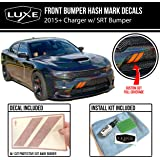 Luxe Auto Concepts Charger Front Bumper Hash Stripes - Reflective Red