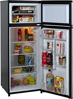 refrigerator 8 cu ft. avanti ra7316pst 2-door apartment size refrigerator, black with platinum finish refrigerator 8 cu ft i
