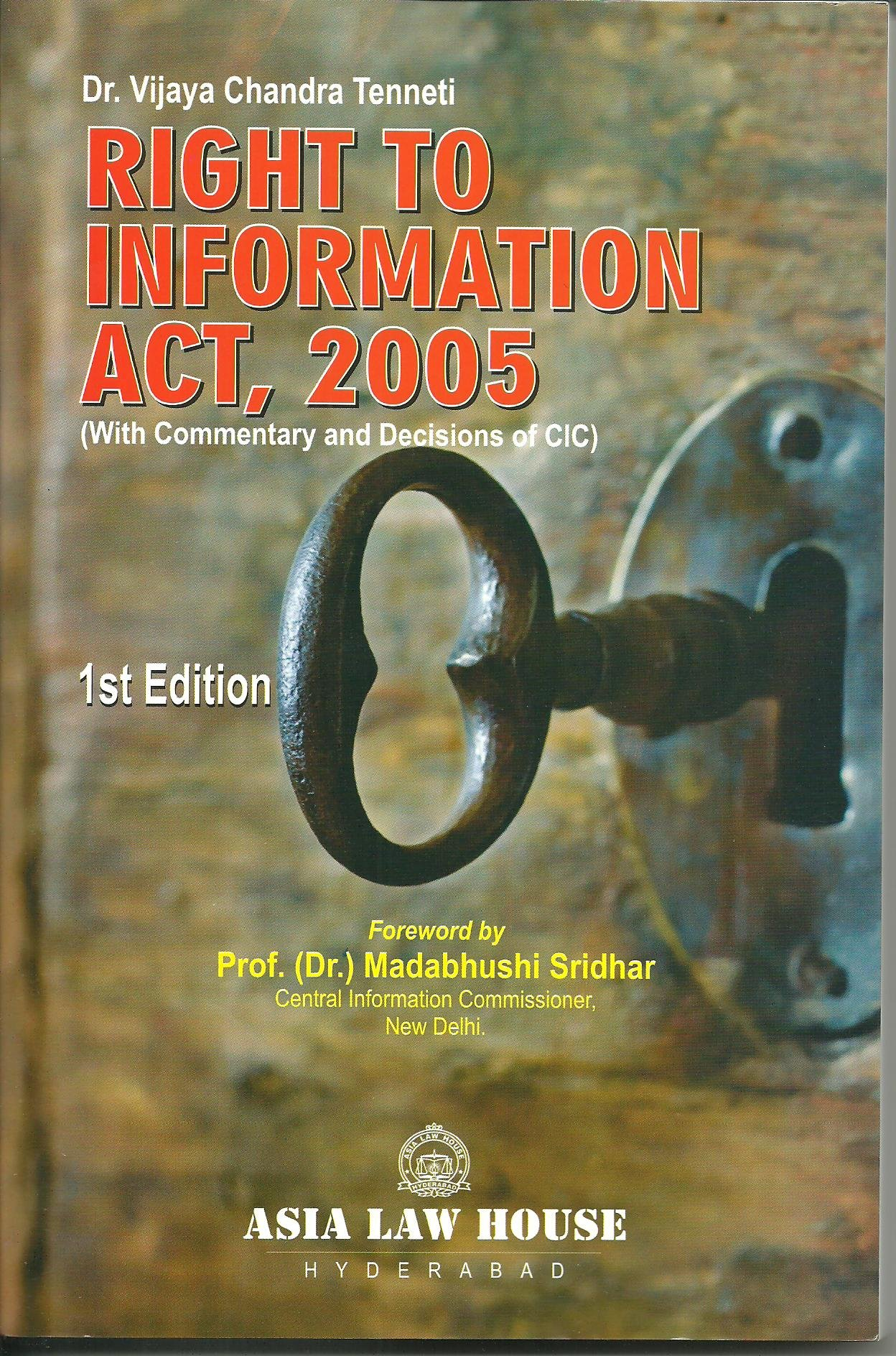 Download Right to Information Act, 2005 ebook