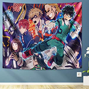 CONG My Hero Academia Tapestry Anime Tapestry for Room Decoration Birthday Gifts 60x70in