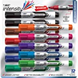BIC Intensity Advanced Dry Erase Marker, Tank Style, Chisel Tip, Assorted Colors, Bright & Vivid Colors, 12-Count