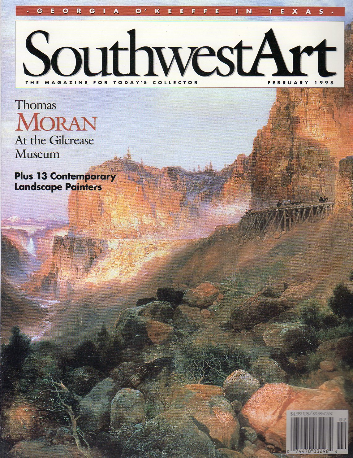 southwest art february 1998 thomas moran at the gilcrease museum