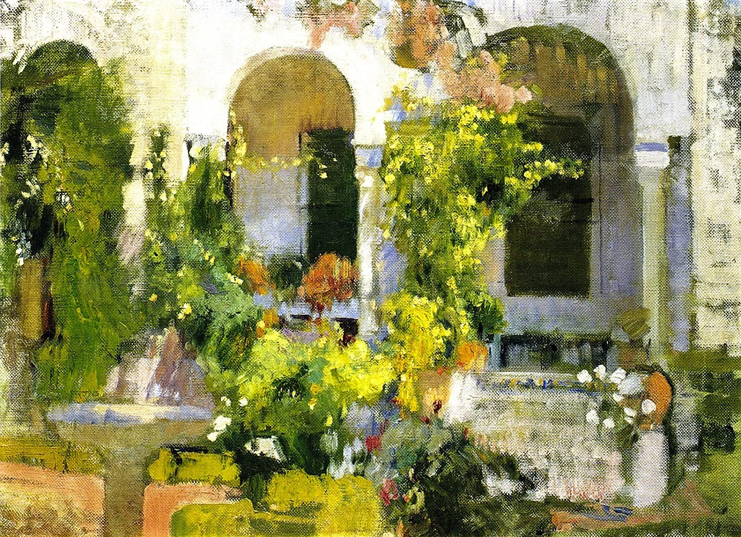 Amazon.com: Joaquin Sorolla y Bastida Garden of The Sorolla ...