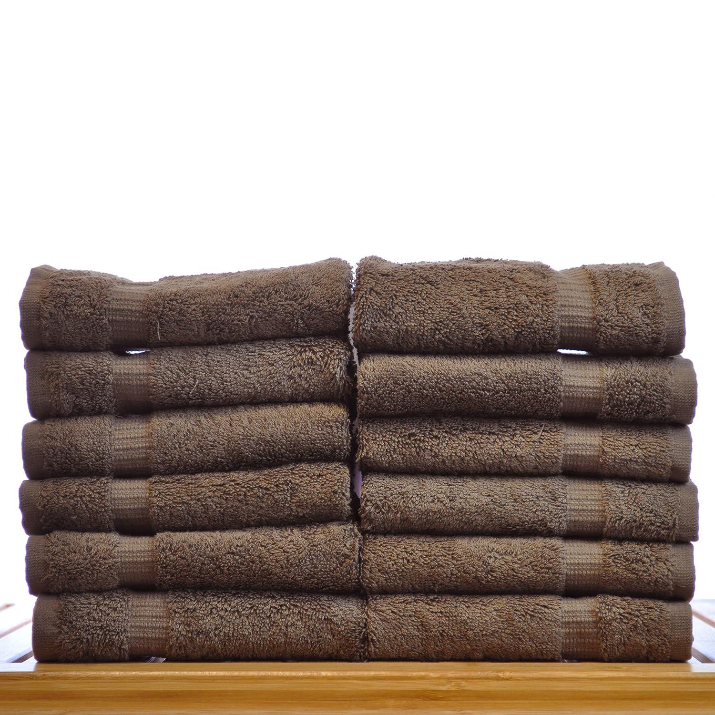 Amazon.com: Chakir Turkish Linens Turkish Cotton Luxury Hotel & Spa Bath Towel, Wash Cloth - Set of 12, Cocoa: Home & Kitchen