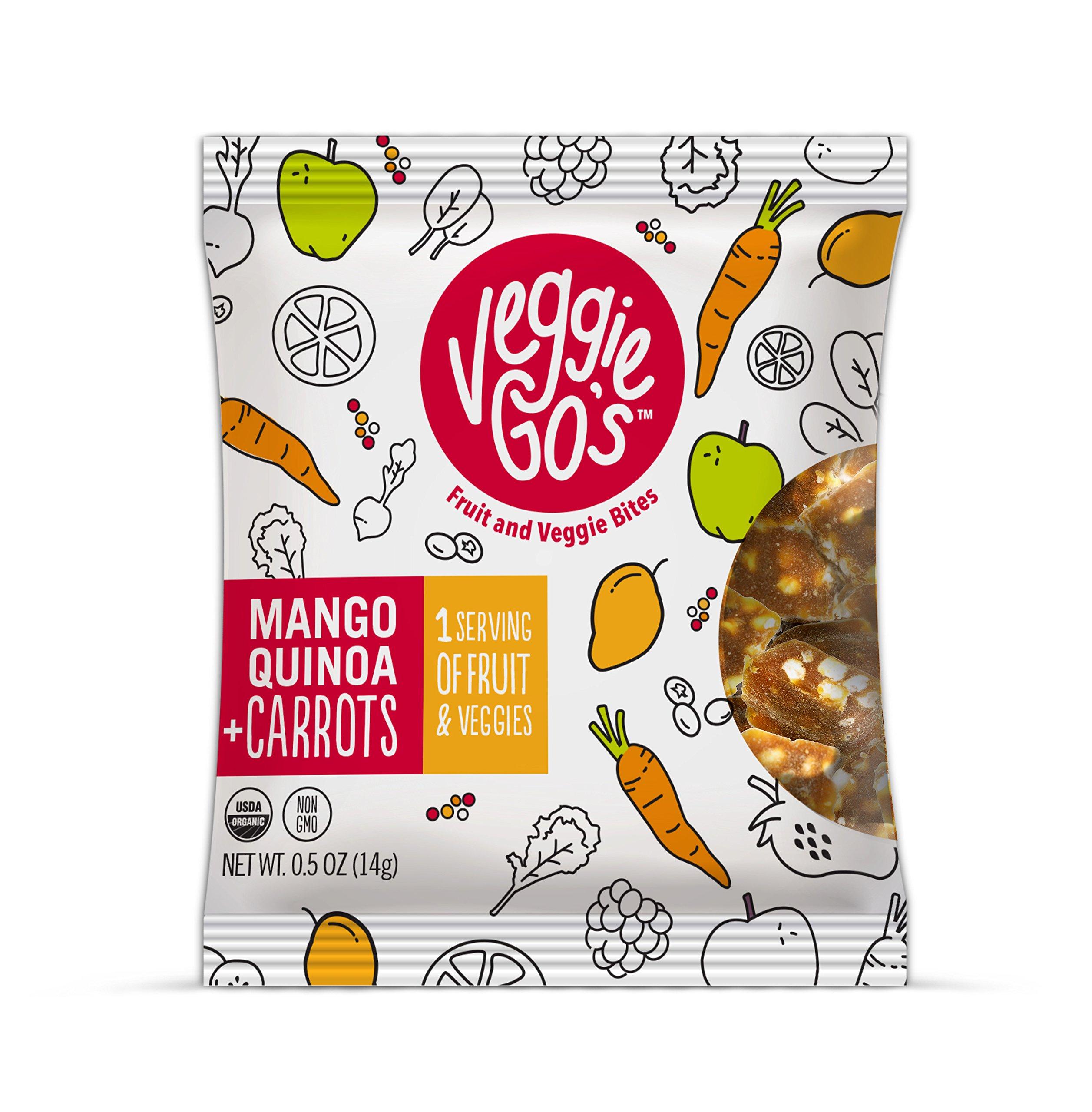 Veggie-Go's Organic Fruit and Veggie Bites, Mango/Quinoa/Carrot, 12 Count