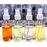 100 ml Empty Plastic Transparent Refillable Fine Mist Spray Bottle, 4 Pc, White