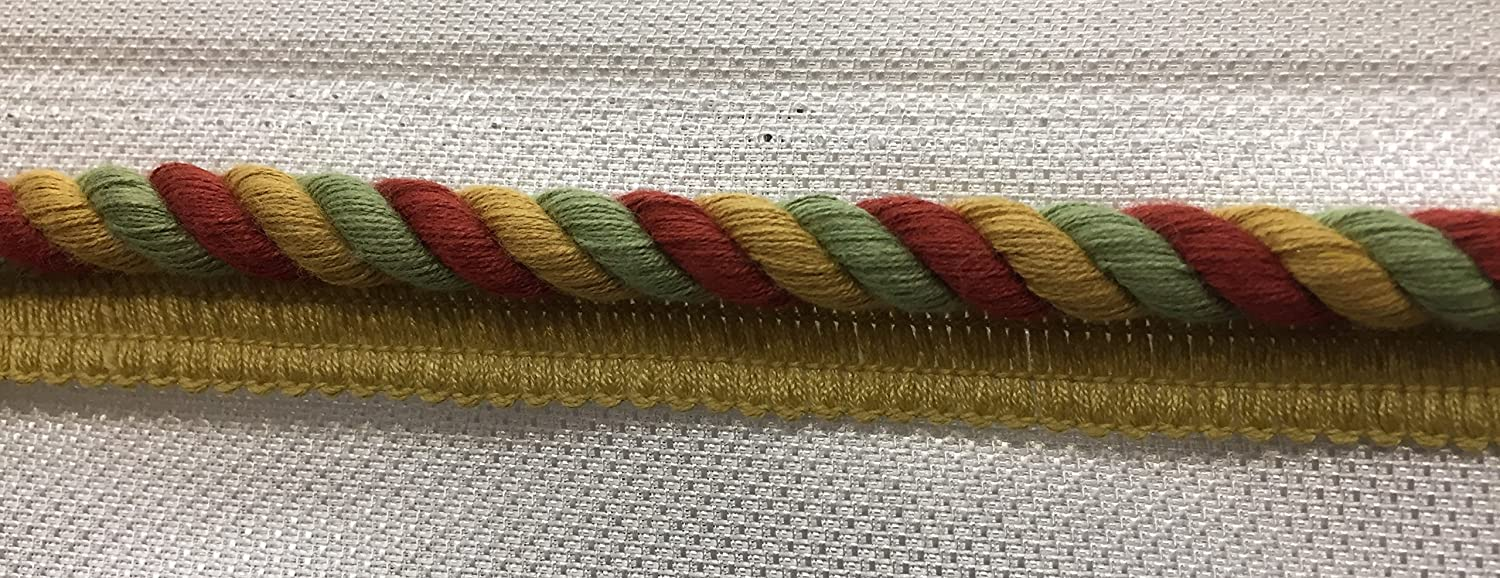 3/8 Cord with Lip, colorn tree tone, Upholstery Pillows Drapery Bedding Home Decor Crafting, sold by the bold (6 yds) 3/8 Cord with Lip Fabric Imperial®
