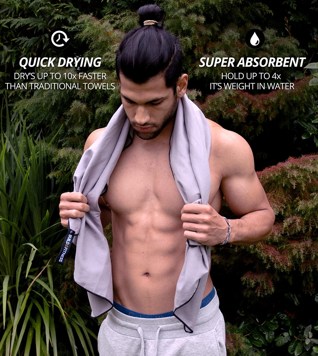 Beach Lightweight Super Absorbent Sport Towel Sports Swimming Carry Bag Camping Travel Yoga Quick Drying Compact Best Towel for Gym Fitness