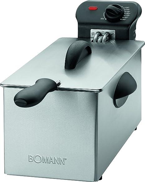 Bomann FR 2264 CB Freidora Acero Inoxidable, 3 litros, desmontable, 2000W, 2000 W, Gris