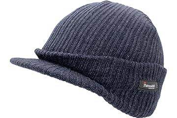 5e782ef73e2 Mens Navy Blue Knitted Beanie Hat with Peak GL221  Amazon.co.uk ...