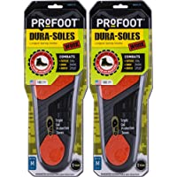 PROFOOT Dura-Sole Insoles Men's 8-13, 2 Pair, Long-Lasting Insoles Designed for Those Who Work on Their Feet, Odor Controlling Triple Gel Protection Insoles