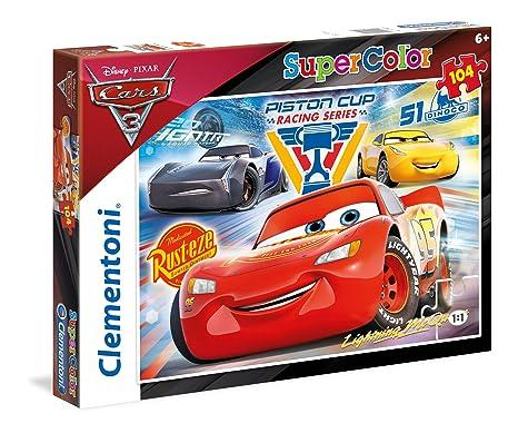3 Disney Clementoni Supercolor Cars 104 Pièces 27072 Puzzle VqSpzUM
