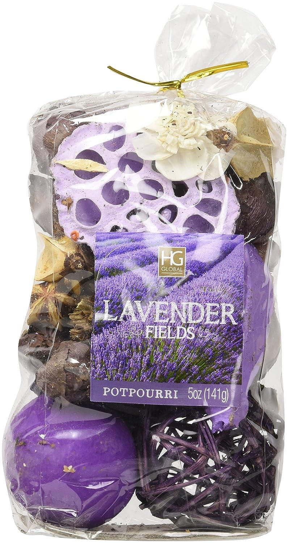 Hosley Set of 6 Lavender Fields Chunky Potpourri - 5 oz Each  Perfect for  Everyday Use, Wedding, Special Events, Aromatherapy, Spa, Reiki, Meditation