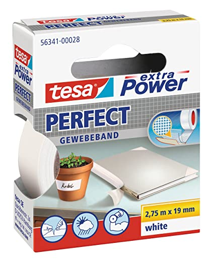 Favorit Amazon.com: Tesa - Extra Power Perfect Tape - 19mm White: Home JH21