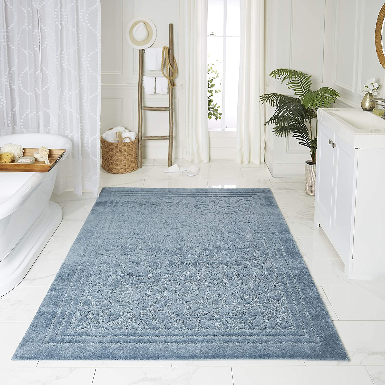 Mohawk Home Wellington Blue Bath Rug, 2'6x4'2, 6 X 4'2