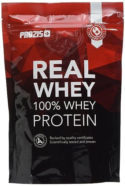 Prozis 100% Real Whey Protein, Suplemento Puro en Polvo con un Perfil Completo de Aminoácidos y Rico en BCAA, Fresa-plátano - 400 g