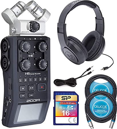 Amazon com: Zoom H6 Handy Recorder Bundle with Samson SR350