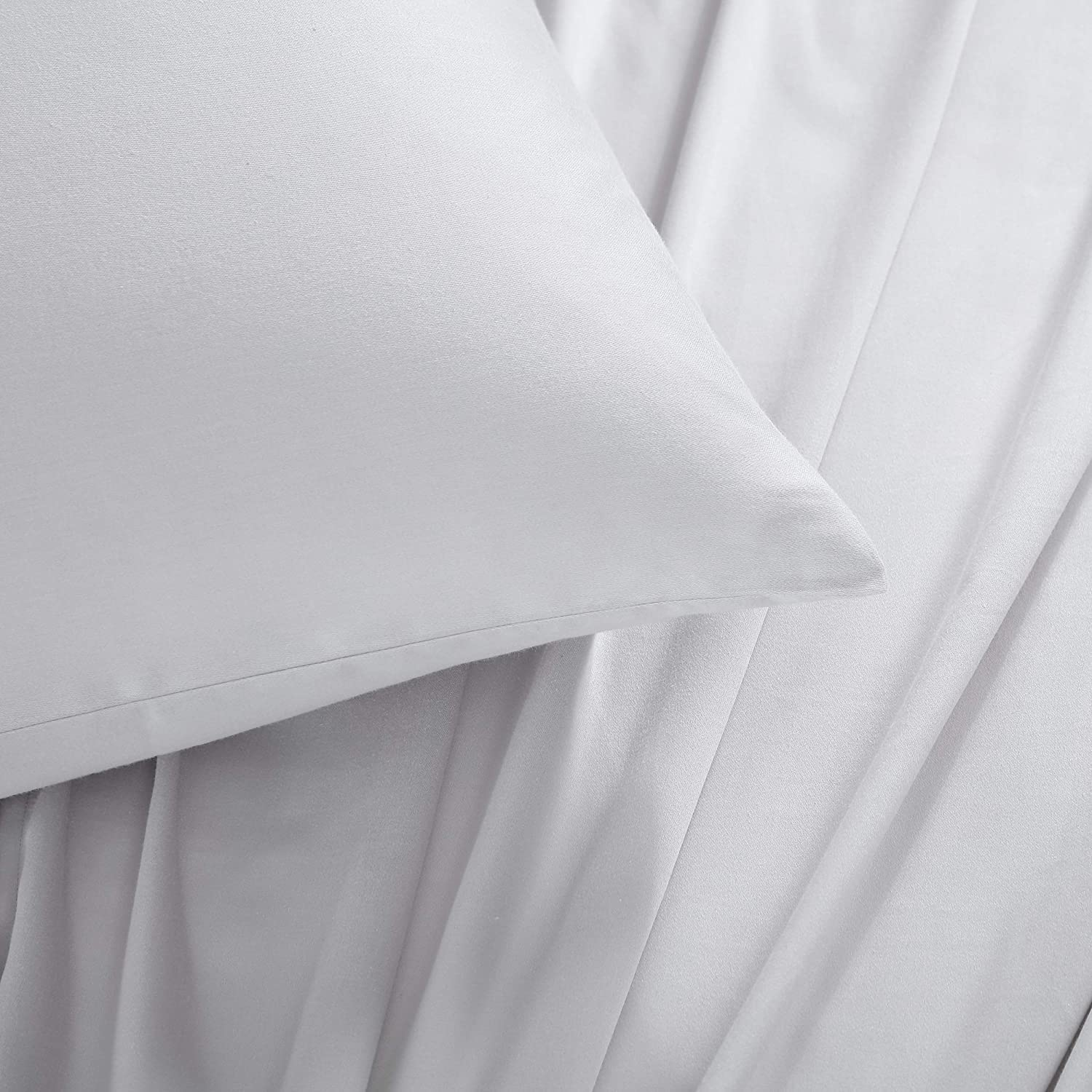 Kenneth Cole New York| Tencel Collection | Bed Sheet Set - 100% Cotton, Crisp & Cool, Lightweight & Moisture-Wicking Bedding, King, White