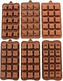 Zicome Non-stick Silicone Square Chocolate Candy Pastry Making Mold Ice Cube Tray Set of 6