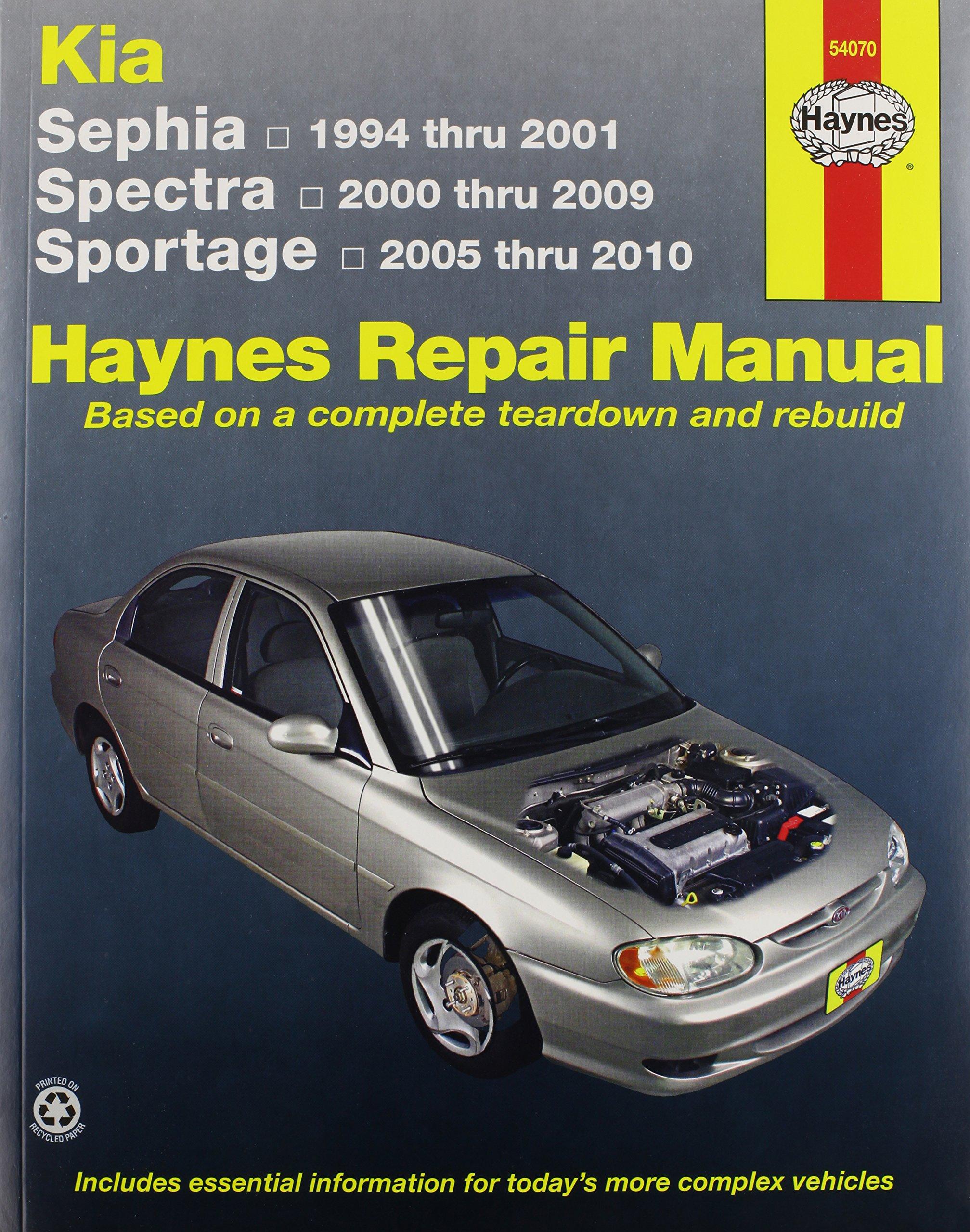 Kia Sephia, Spectra and Sportage: covering Sephia 1994 thru 2001 , Spectra  2000 thru 2009 and Sportage 2005 thru 2010 Haynes Repair Manual: Amazon.in:  J.J. ...