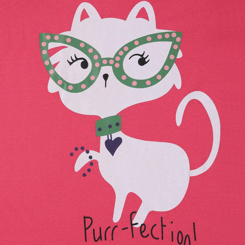 Girls Pyjamas Children Kids Cat Sleepwear Cotton Short Set