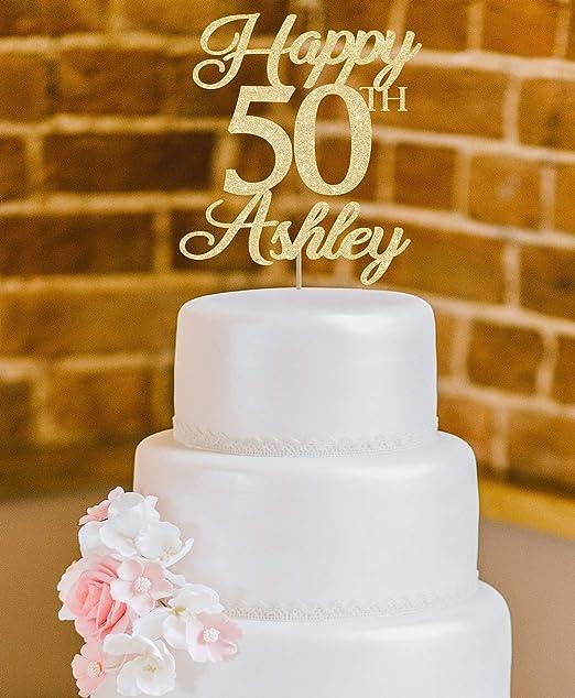 50 adornos para tarta de 50 cumpleaños de Derles, decoración ...