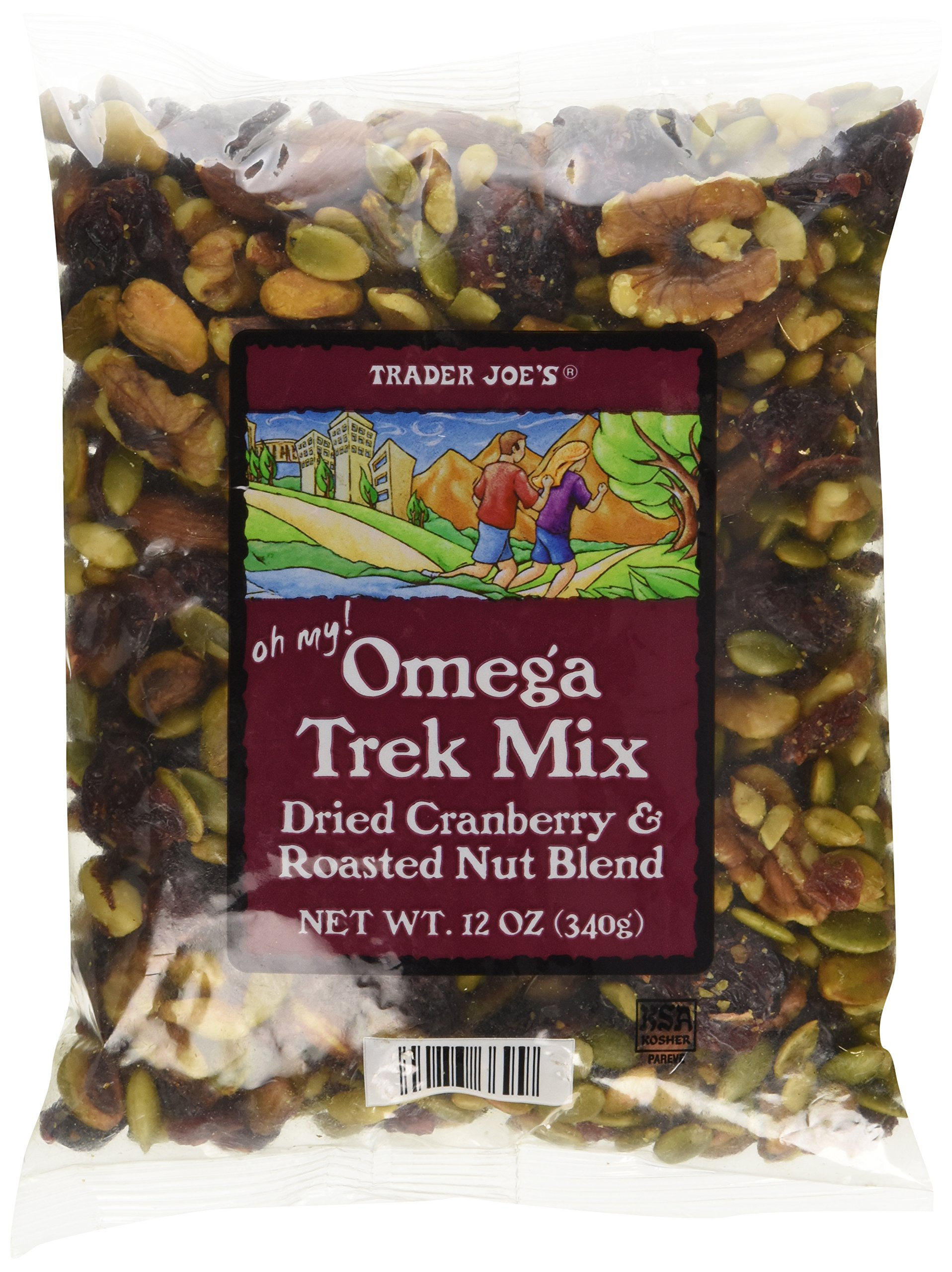 Trader Joe's Omega Trek Mix with Fortified Cranberries (12 oz) by Trader Joes