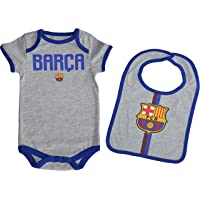 Fc Barcelone Body + Babero bebé Barça - Colección Oficial Talla bebé