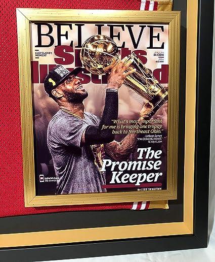 Premium Framed Lebron James Autographed/Signed Cleveland