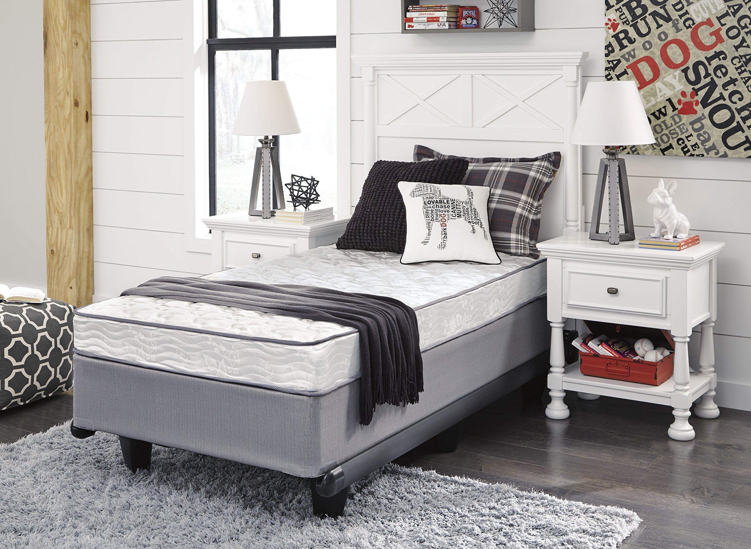 shley Furniture Signature Design - Sierra Sleep - Bonell Twin Size Mattress - 6 inches -White