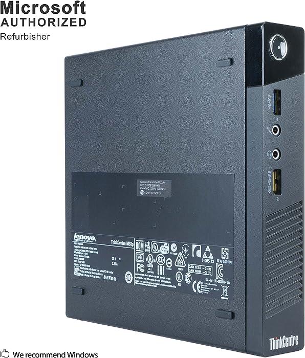 Lenovo ThinkCentre M93P Tiny Form Factor Business Desktop Computer, Intel Dual-Core i5-4570T Processor up to 3.60 GHz, 8GB RAM, 128GB SSD, WiFi, USB 3.0, VGA, Windows 10 Pro (Renewed)