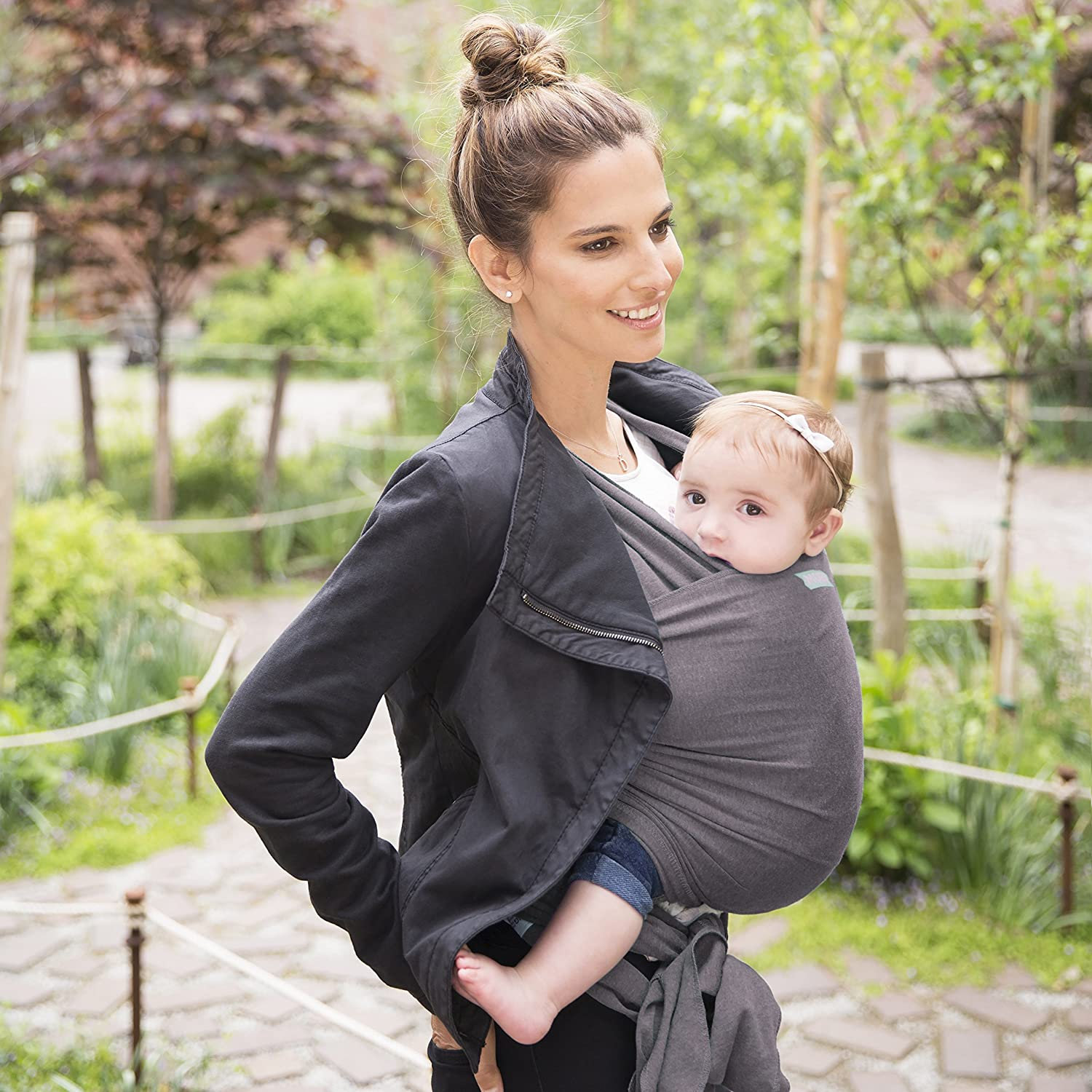 Moby Classic Baby Wrap Keeping Baby Close Baby Wrap Carrier For Newborns Infants Breastfeeding Pacific and Toddlers-Baby Carrying Wrap For Babywearing - Baby Wearing Wrap For Parents On The Go
