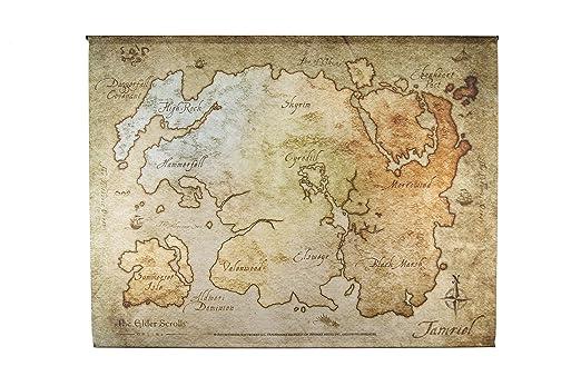 The Elder Scrolls Online Map Wallscroll (Electronic Games): Amazon ...