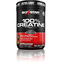 Six Star Elite Series 100% Micronized Creatine Monohydrate Powder, Muscle Builder & Recovery, Unflavoured, 80 Servings (400g)