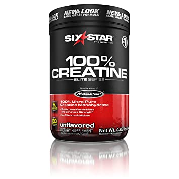Six Star Elite Series 100% Micronized Creatine Monohydrate Powder, Muscle  Builder & Recovery,