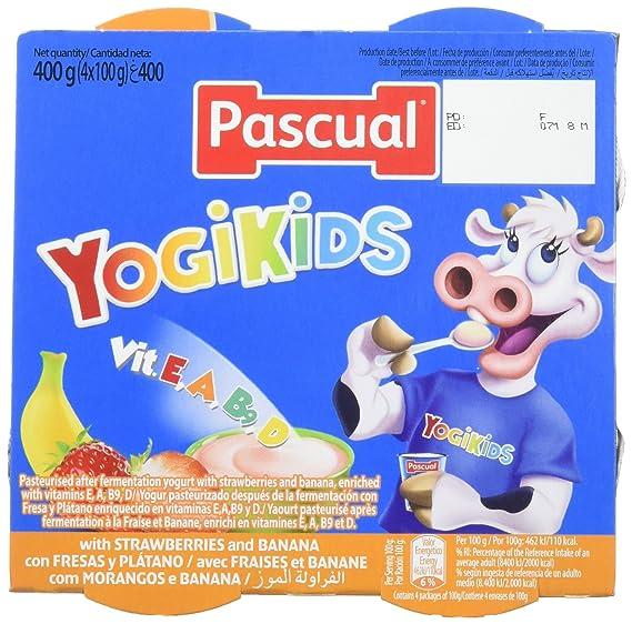 Pascual Yogur Sabor - Paquete de 4 x 100 gr - Total: 400 gr