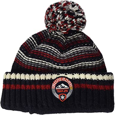 Superdry Woodruff Beanie Bonnet, Bleu (Downhill