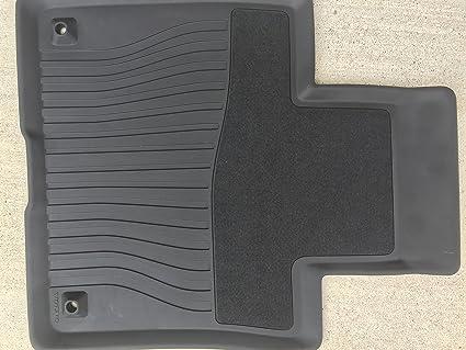 Amazon Com 2015 2016 Volvo Xc90 Oem Black Rubber Floor Mats
