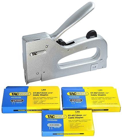 Tacwise Combi - Grapadora metálica para cables de tipo CT-60 y CT-45