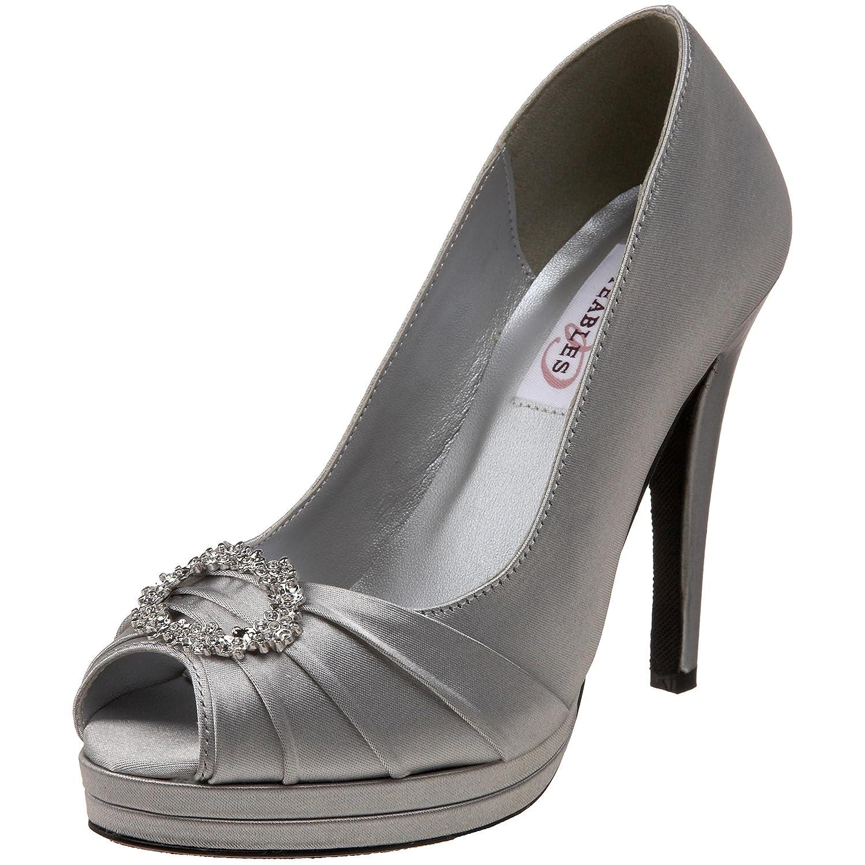Dyeables Women's Gianna Platform Pump B003O29B38 5.5 B(M) US|Silver
