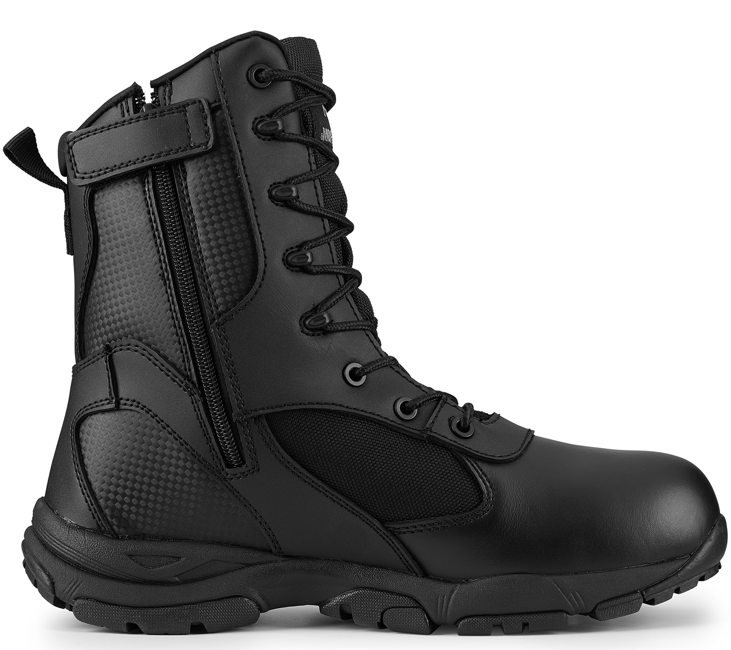 Maelstrom Men's TAC ATHLON 8'' Black Side Zipper Tactical Work Boots Law Enforcement, Security, Work and Military | Athletic, Waterproof, Breathable, Comfortable | Lightweight 17.5 oz | One Year Warranty, Size 8.5M by Maelstrom