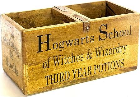 Caja de madera elegante de colegio Hogwarts de Harry Potter caja ...