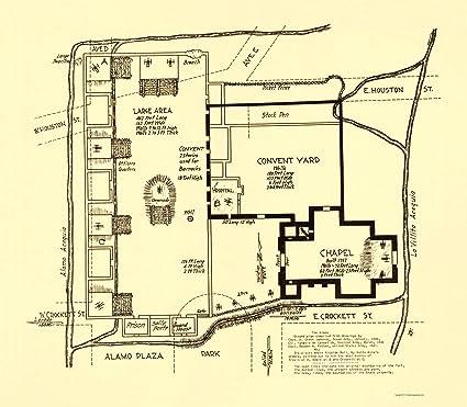 Old Map Of Texas.Amazon Com Old Map Texas Revolution Alamo In San Antonio 1836