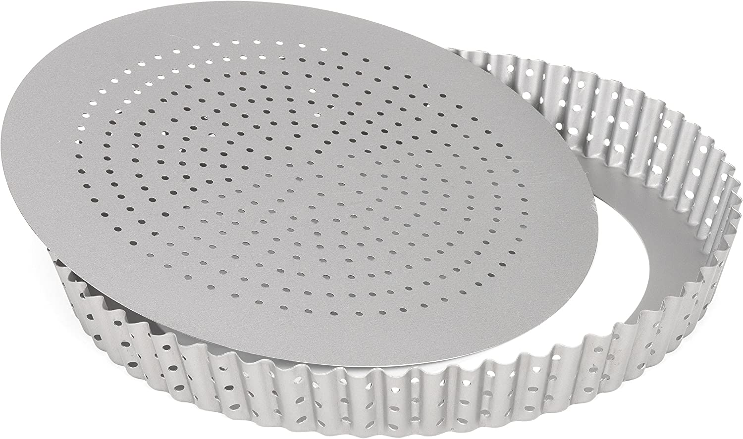 """Patisse Round Quiche Pan with Glass Bottom 9-1//2/"""" or 24 cm in Diameter Nonstick"""