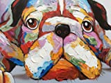Everfun Large Canvas Animal Oil Painting on Wall