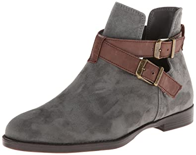 Bella Vita Women's Raine Leather Boot,Gravel Kid Suede/Dark Brown Leather ,6.5