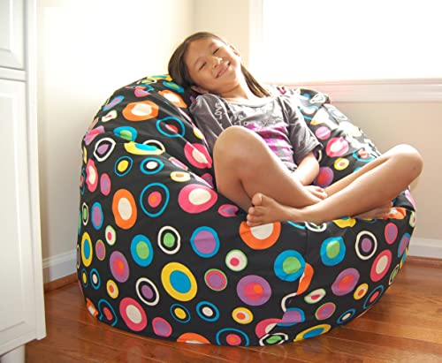 Ahh Products Bubbly Jelly Bean Cotton Washable Large Bean Bag Chair