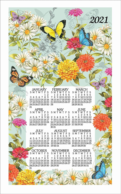 Kay Dee Designs Butterfly Garden Calendar Towel, Multi