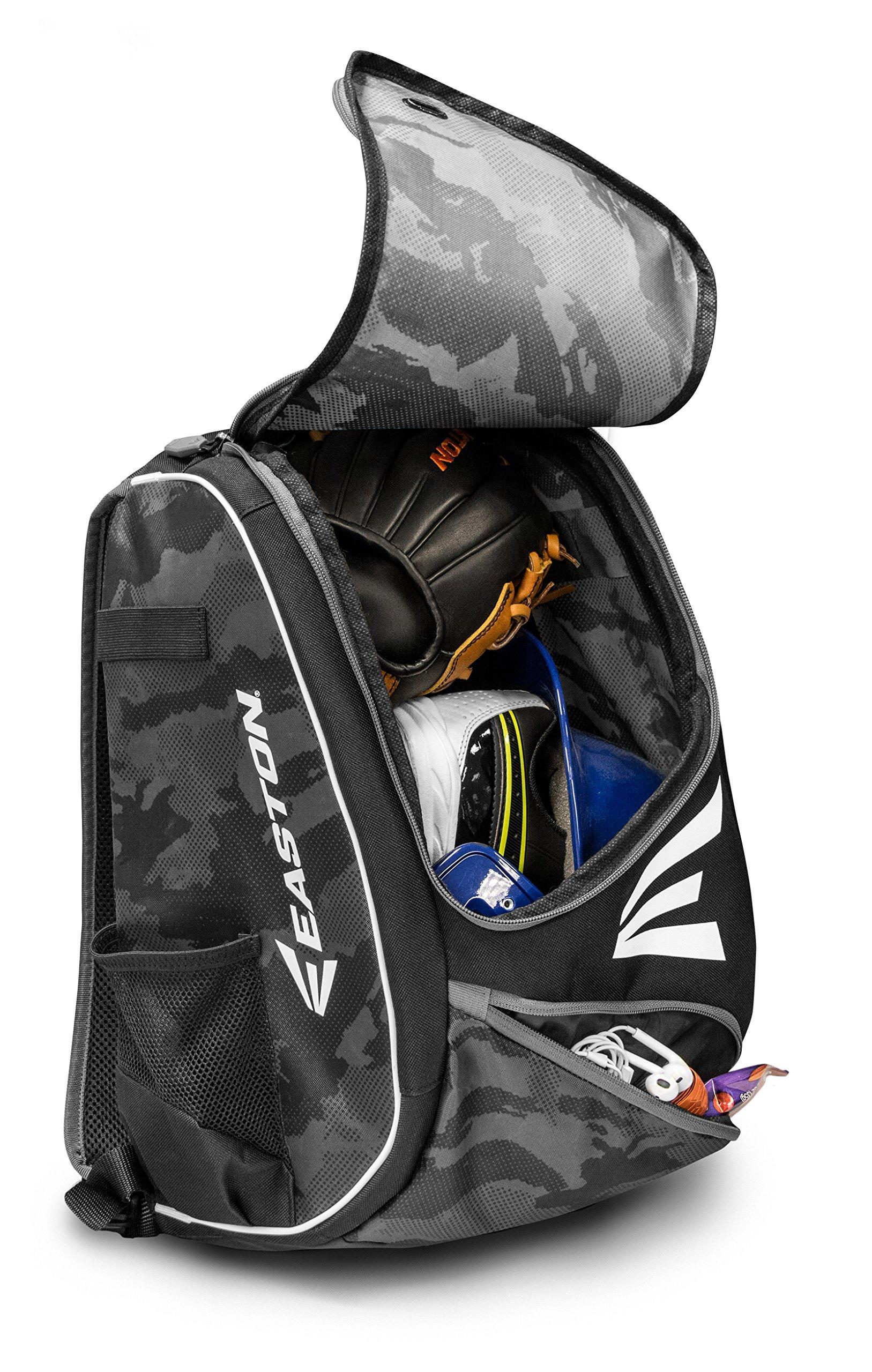 EASTON E110YBP Youth Bat & Equipment Backpack Bag | Baseball Softball | 2019 | Red White Blue | 2 Bat Sleeves | Smart Gear Storage | Valuables Pocket | Rubberized Zipper Pulls | Fence Hook by Easton (Image #1)